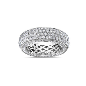 Men's 14K White Gold Band with 4.90 CT Diamonds