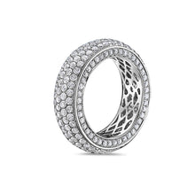 Load image into Gallery viewer, Men's 14K White Gold Band with 4.90 CT Diamonds