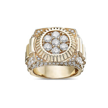 Load image into Gallery viewer, Men's 14K Yellow Gold Ring with 3.53 CT Diamonds