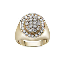 Load image into Gallery viewer, Men's 14K Yellow Gold Ring with 2.17 CT Diamonds