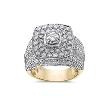 Load image into Gallery viewer, Men's 14K Yellow Gold Ring with 4.92 CT Diamonds
