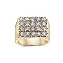 Load image into Gallery viewer, Men's 14K Yellow Gold Ring with 3.16 CT Diamonds