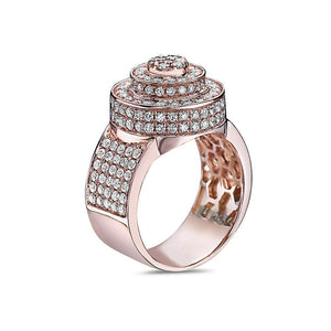 Men's 14K Rose Gold Ring with 2.51 CT Diamonds