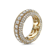 Load image into Gallery viewer, Men's 14K Yellow Gold Band with 5.74 CT Diamonds