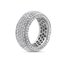 Load image into Gallery viewer, Ladies 14k White Gold With 5.30 CT Wedding Band