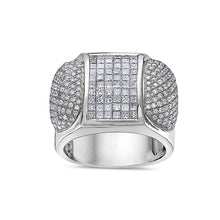Load image into Gallery viewer, Men's 14K White Gold Ring with 3.20 CT Diamonds