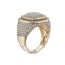 Load image into Gallery viewer, Men's 14K Yellow Gold Ring with 3.01 CT Diamonds