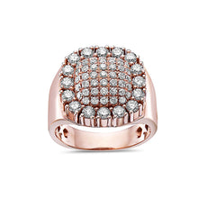 Load image into Gallery viewer, Men's 14K Rose Gold Ring with 2.21 CT Diamonds