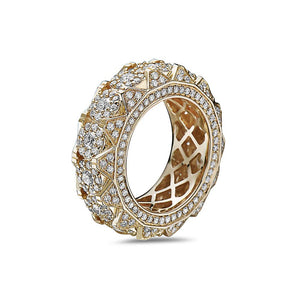 Men's 14K Yellow Gold Band with 4.85 CT Diamonds