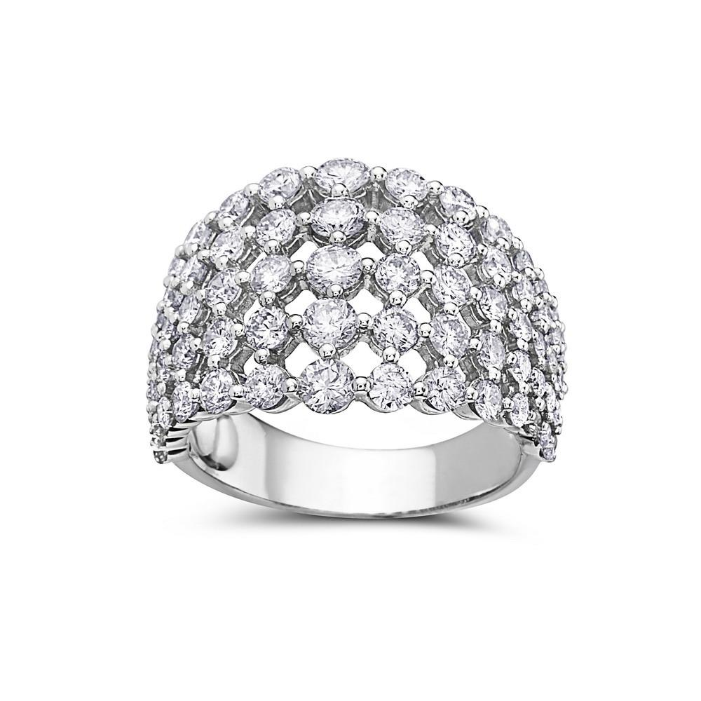 Ladies 18k White Gold With 2.81 CT Right Hand Ring