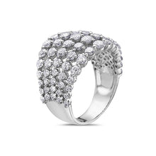 Load image into Gallery viewer, Ladies 18k White Gold With 2.81 CT Right Hand Ring