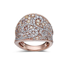 Load image into Gallery viewer, Ladies 18k Rose Gold With 2.85 CT Right Hand Ring