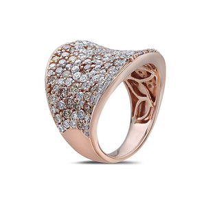 Ladies 18k Rose Gold With 2.85 CT Right Hand Ring
