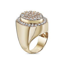 Load image into Gallery viewer, Men's 14K Yellow Gold Ring with 5.47 CT Diamonds