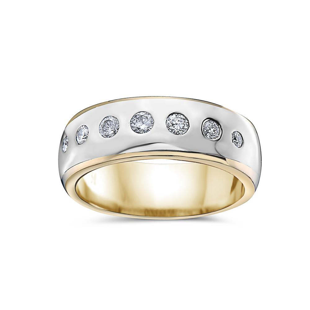 Men's Platinum  Band with 0.50 CT Diamonds
