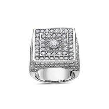 Load image into Gallery viewer, Men's 14K White Gold Ring with 9.50 CT Diamonds