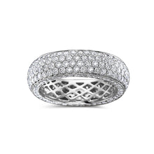 Load image into Gallery viewer, Men's 14K White Gold Band with 5.10 CT Diamonds