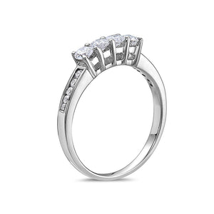 Ladies 18K White Gold With  0.68 CT Wedding Band