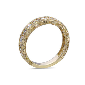 Ladies 18K Yellow Gold With  0.47 CT  Diamond Wedding Band