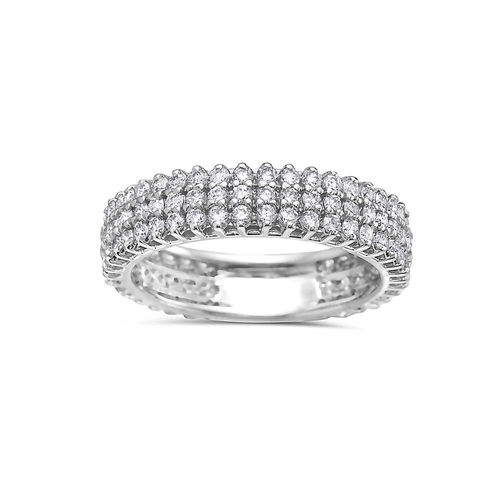 Ladies 18k White Gold With 1.50 CT Diamond Wedding Band