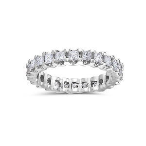 Ladies 18k White Gold With 1.47 CT Diamonds Wedding Band