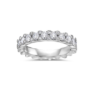 Ladies 18k White Gold With 1.20 CT Diamond Wedding Band