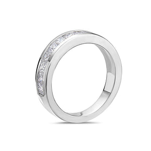 Ladies 14k White gold With 1.75CT Diamond Wedding Band