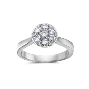 Ladies 14k White Gold With 0.88 CT Right Hand Ring