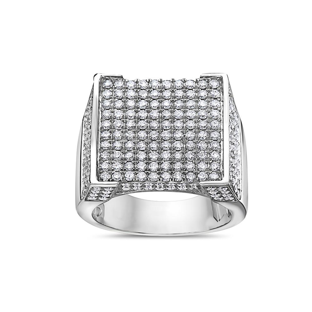 Men's 14K White Gold Ring with 4.25 CT Diamonds