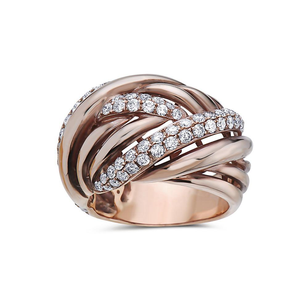 Ladies 18k Rose Gold With 1.46 CT Right Hand Ring