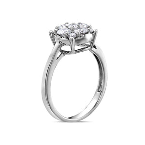 Ladies 14k White Gold With 1.22 CT Right Hand Ring
