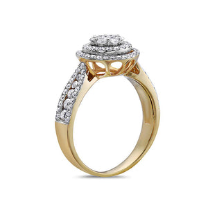 Ladies 18K Yellow Gold With 1.07 CT Right Hand Ring