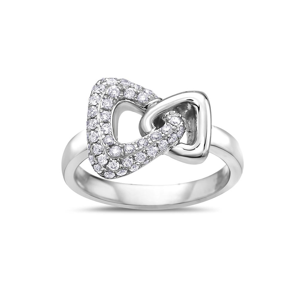 Ladies 18k White Gold With 0.46 CT Right Hand Ring