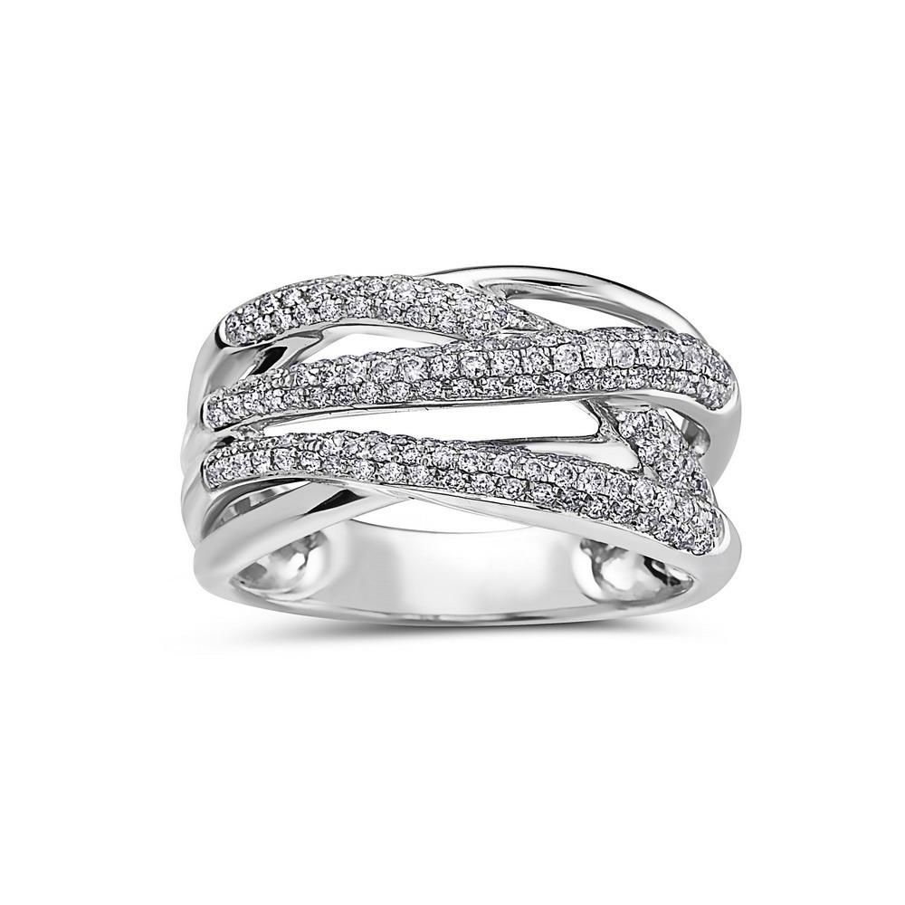 Ladies 18k White Gold With 0.64 CT Right Hand Ring