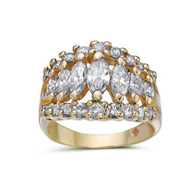 Load image into Gallery viewer, Ladies 14k Yellow Gold With 2 CT Right Hand Ring