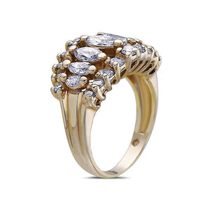 Ladies 14k Yellow Gold With 2 CT Right Hand Ring