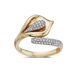 Ladies 18k Yellow Gold With 0.50 CT Right Hand Ring
