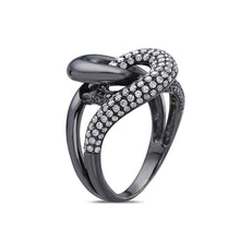 Load image into Gallery viewer, Ladies 18k Black Gold With 1.15 CT Right Hand Ring