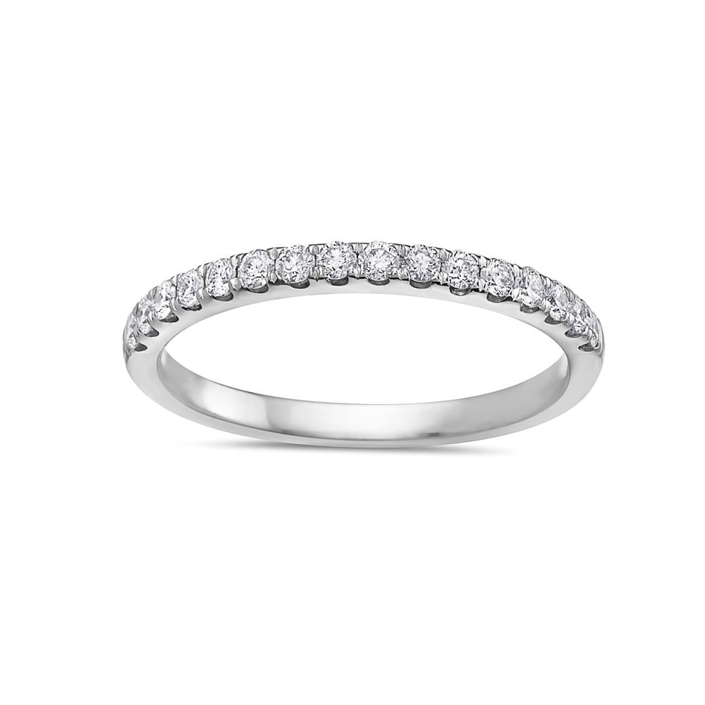 Ladies 18K White Gold With 0.32 CT Diamonds Wedding Band