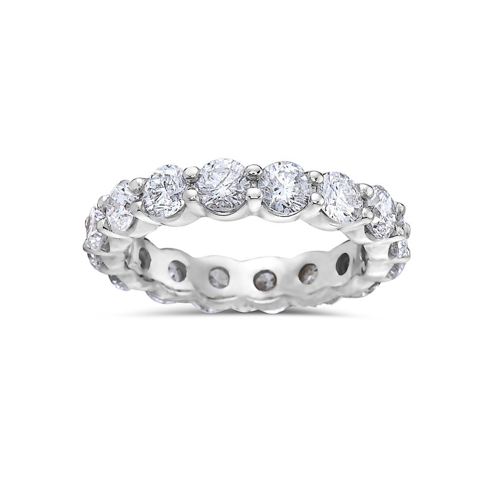 Ladies 18k White Gold With 3.75 CT Diamonds Wedding Band
