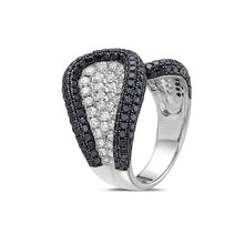 Load image into Gallery viewer, Ladies 18k White Gold With 3.50 CT Right Hand Ring