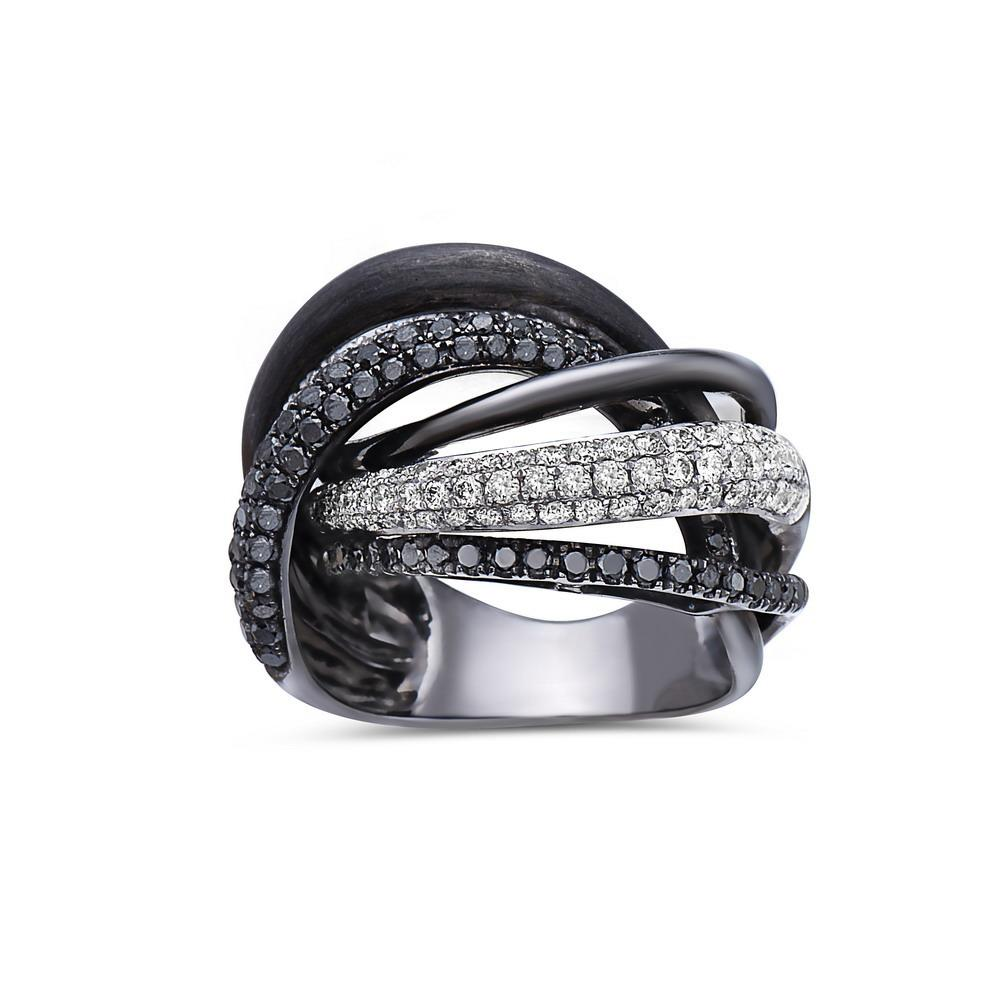 Ladies 18k Black Gold With 2.36 CT Right Hand Ring