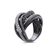Load image into Gallery viewer, Ladies 18k Black Gold With 2.36 CT Right Hand Ring