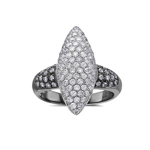 Ladies 14k White Gold With 1.75 CT Right Hand Ring