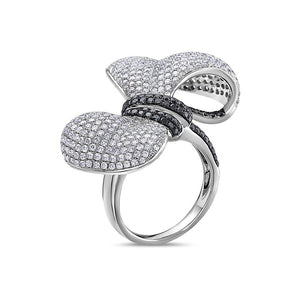 Ladies 18k White Gold With 3.45 CT Right Hand Ring