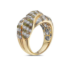 Load image into Gallery viewer, Ladies 18k Yellow Gold With 2.55 CT Right Hand Ring