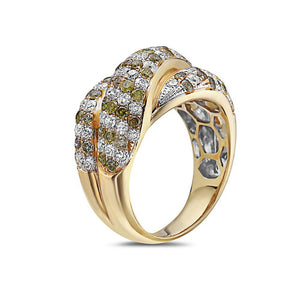 Ladies 18k Yellow Gold With 2.55 CT Right Hand Ring