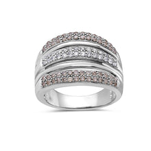 Load image into Gallery viewer, Ladies 14 White Gold With 1 CT Right Hand Ring