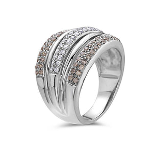 Ladies 14 White Gold With 1 CT Right Hand Ring