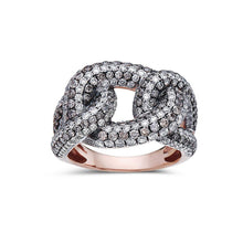 Load image into Gallery viewer, Ladies 18k Rose Gold With 2.84 CT  Right Hand Ring